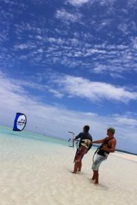 Aitutaki Kite Centre lesson