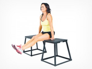 stretch knees between two chairs
