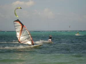 windsurfer-and-kitesurfer
